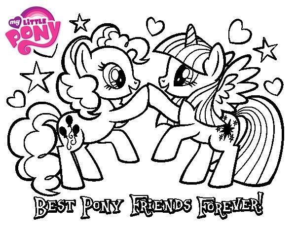 Desenho de  Pony Melhores amigos para sempre para Colorir