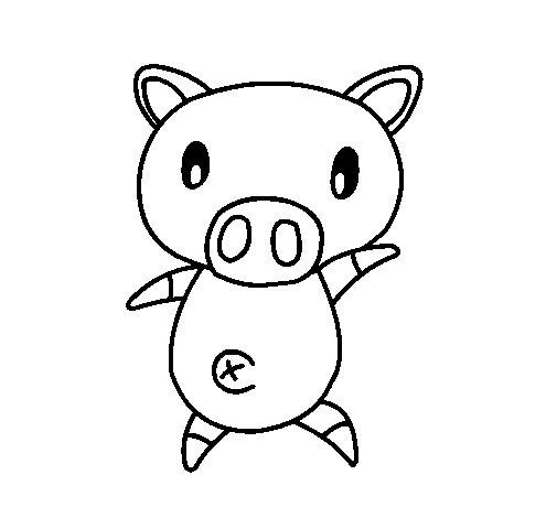Desenho de Porco graffiti para Colorir