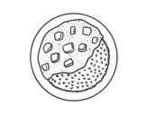 Desenho de Prato de arroz com molho para colorear