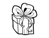 Desenho de Presente de Natal para colorear