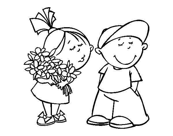 Desenho de Presente de São Valentim para Colorir