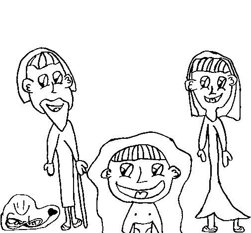 Desenho de Presépio para Colorir