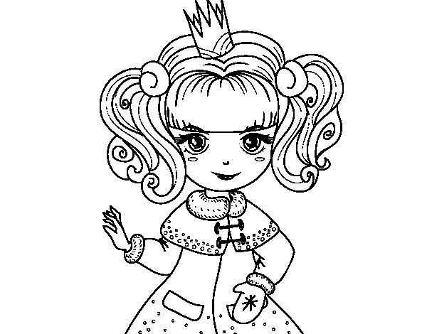 Dibujos Para Colorear De Rapunzel Bebe: Desenho De Princesa De Inverno Para Colorir