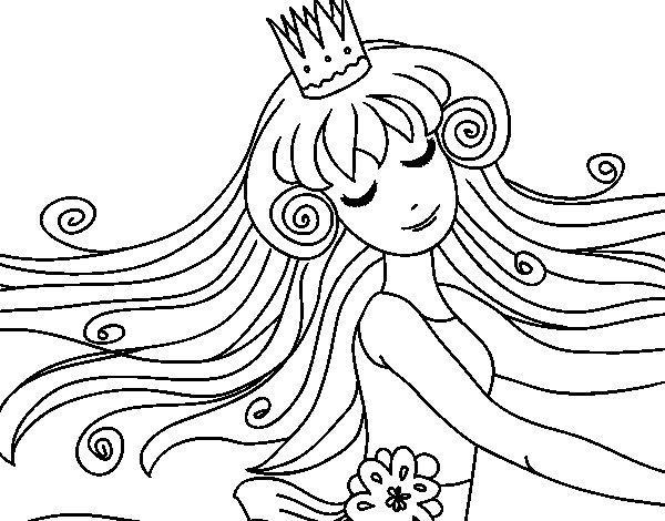 Desenho De Princesa Doce Para Colorir