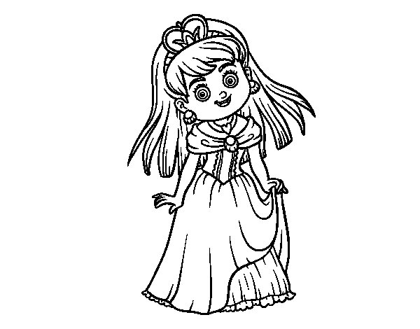Desenho de Princesa encantadora para Colorir