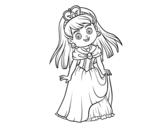 Desenho de Princesa encantadora para colorear