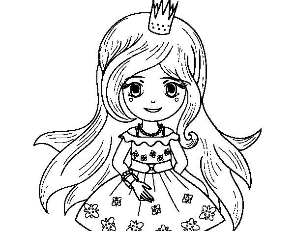 Desenho De Princesa Primavera Para Colorir