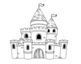 Desenho de Princesas do castelo para colorear