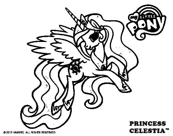 Desenho de Princess Celestia para Colorir