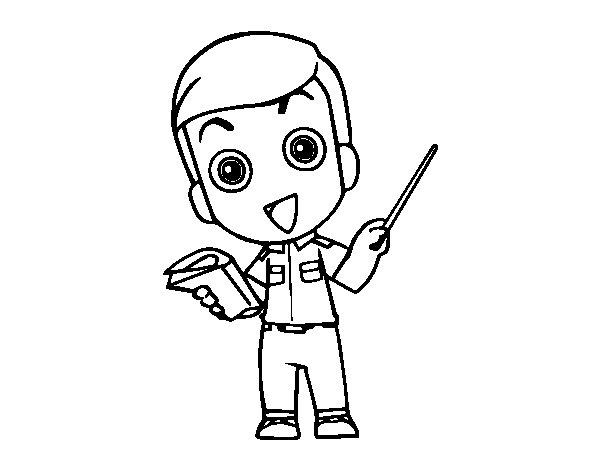 Desenho de Professor para Colorir