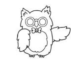 Desenho de Professor coruja para colorear