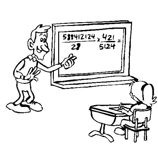 Desenho de Professor de matemática para Colorir