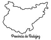 Desenho de Província Badajoz para colorear