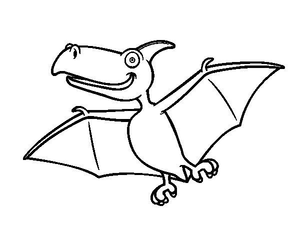 Desenho de Pterodactylus para Colorir