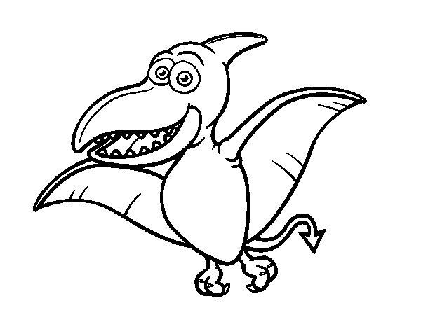 Desenho de Pterossauro para Colorir