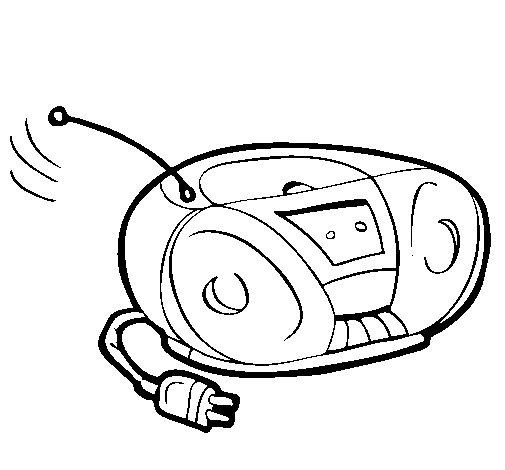 Desenho de Radio cassette para Colorir