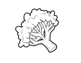Desenho de Ramo brócoli para colorear