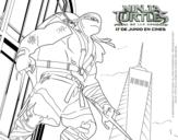 Desenho de Raphael Ninja Turtles para colorear
