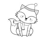Desenho de Raposa protegida para colorear