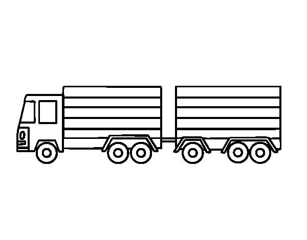 Desenho de Reboque do trator para Colorir