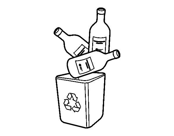 Desenho de Reciclagem de vidro para Colorir