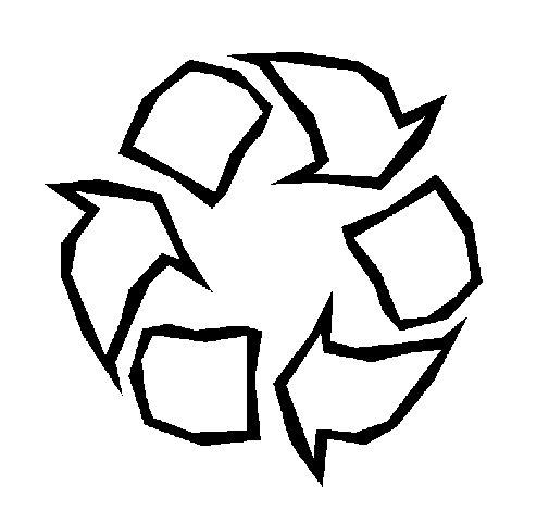 Desenho de Reciclar para Colorir