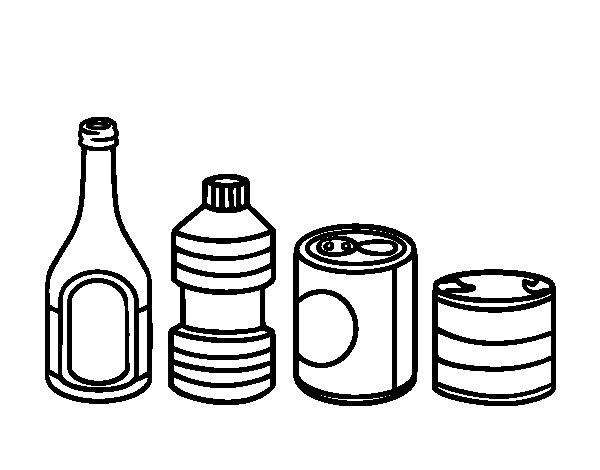 Desenho de Reciclar envases para Colorir