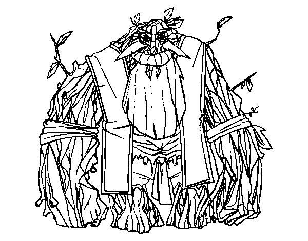Desenho de Rei da floresta para Colorir