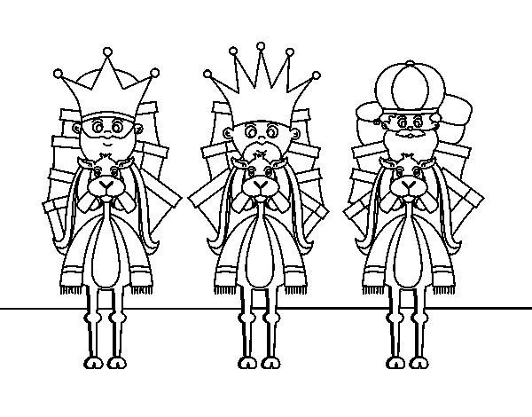 Desenho de Reis Magos na camelo para Colorir