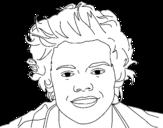 Desenho de Retrato do Harry Styles para colorear