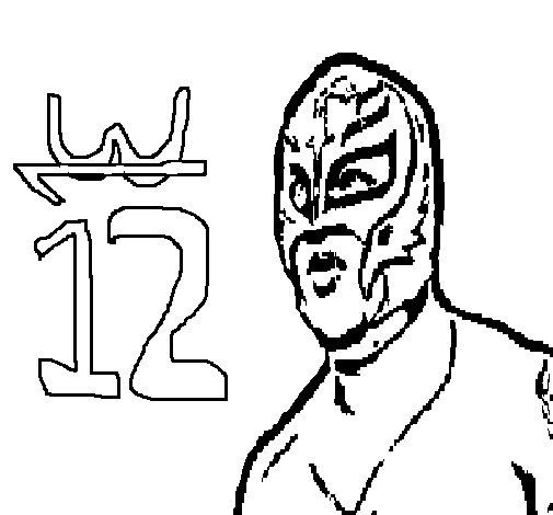 Desenho de Rey Mysterio para Colorir