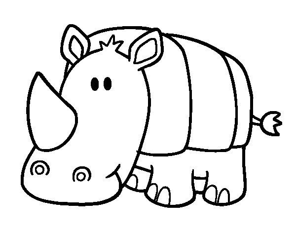 Desenho de Rhino bebê para Colorir