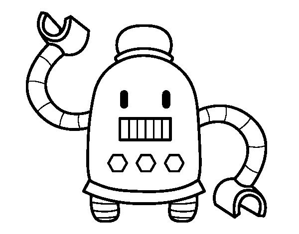 Desenho De Robô Com Braços Longos Para Colorir