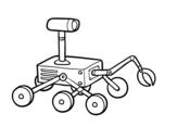 Desenho de Robô da luna para colorear