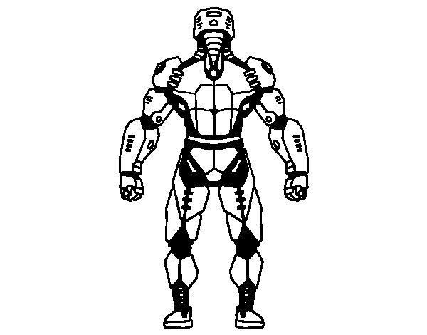 Desenho de Robô de volta para Colorir