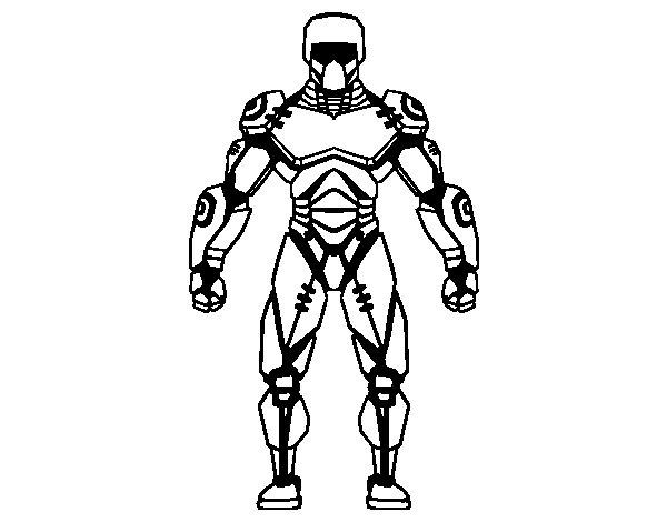 Desenho de Robô lutador para Colorir