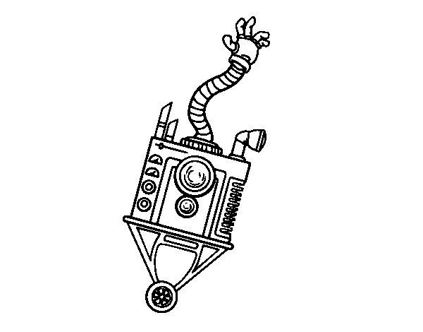 Desenho de Robot mão para Colorir