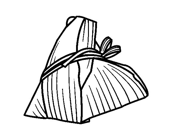 Desenho de Rolinhos de Taiwan para Colorir