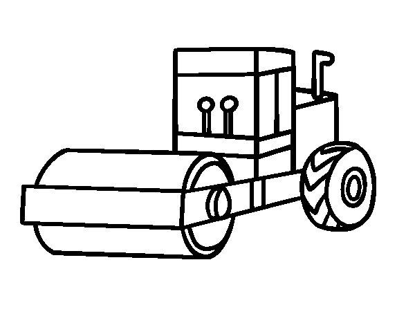 Desenho de Rolo compressor para Colorir