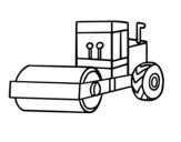 Desenho de Rolo compressor para colorear