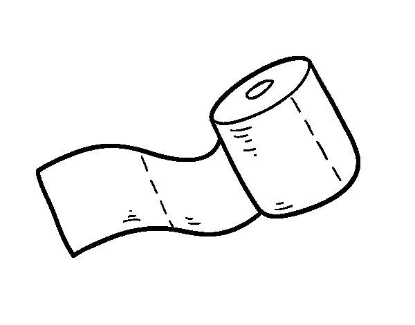 Desenho de rolo de papel higi nico para colorir - Papel de pintar ...