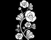 Desenho de Roseiral para colorear
