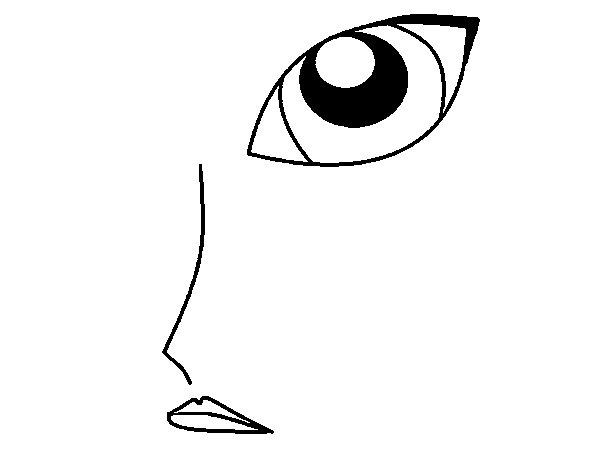 Desenho de Rosto para Colorir