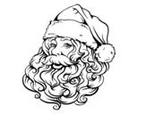 Dibujo de Rosto de Papai Noel para o natal