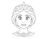 Desenho de Rosto de princesa para colorear