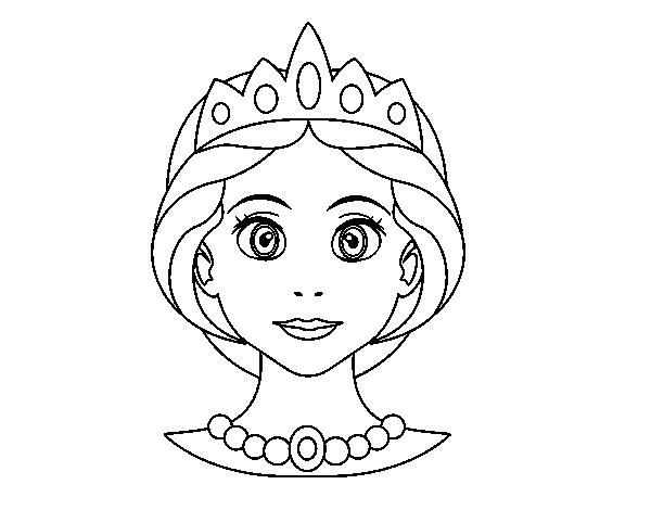 Desenho De Rosto De Princesa Para Colorir