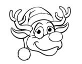 Desenho de Rudolph face rena para colorear