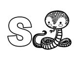 Desenho de S de Serpente para colorear