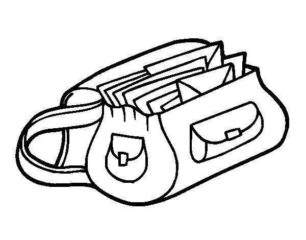 Desenho de Saco com letras para Colorir