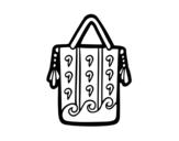 Desenho de Saco étnico para colorear